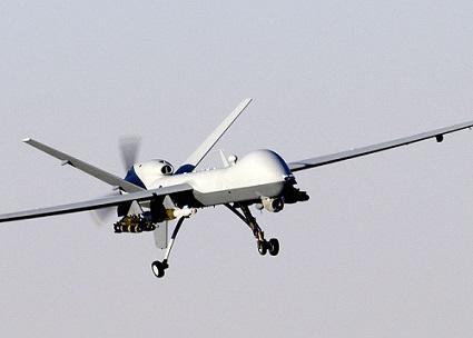 mq9-reaper is een killer-hunter drone: foto public wikipedia van US Army