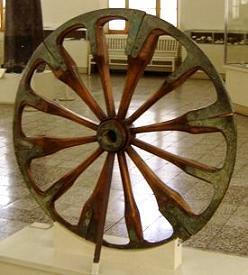 uitvinding van het wiel; foto shared domein